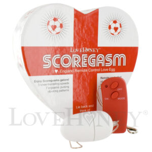 Scoregasm I Love England World Cup Remote Control 10 Speed Love Egg