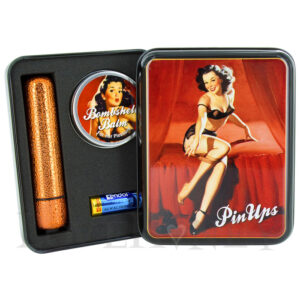 Sexy Betty and Her Glittery Orange Bullet Vibrator Gift Set